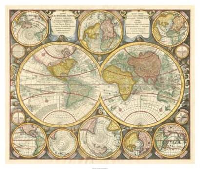 Antique World Globes art print