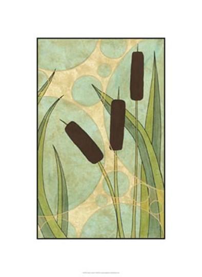 Tranquil Cattails III by Renee Stramel art print