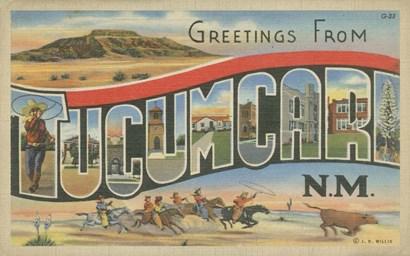 Greetings from Tucumcari art print