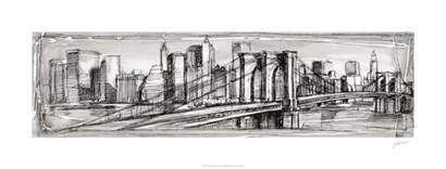 Pen & Ink Cityscape II by Ethan Harper art print