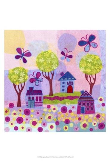 Springtime Houses by Kim Conway art print