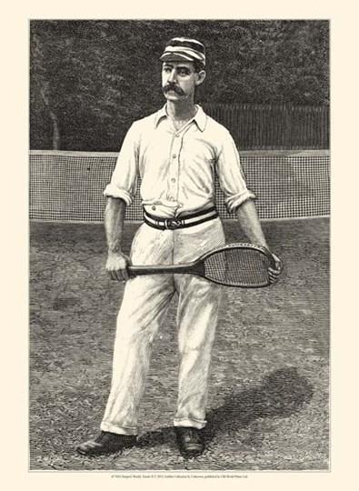 Harper's Weekly Tennis II art print