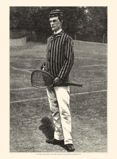 Harper's Weekly Tennis IV art print