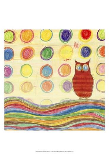 Feathers, Dots & Stripes IV by Ingrid Blixt art print
