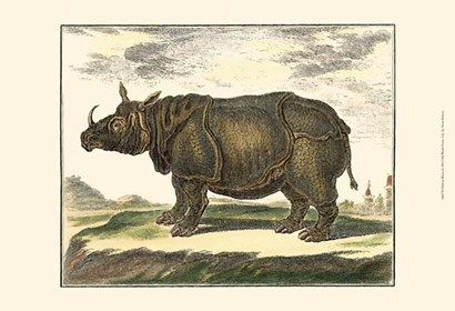 Rhino by Denis Diderot art print