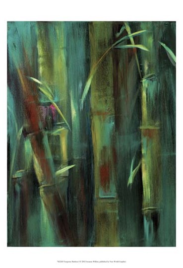 Turquoise Bamboo I by Suzanne Wilkins art print