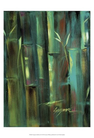 Turquoise Bamboo II by Suzanne Wilkins art print