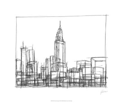Wire Frame Cityscape II by Ethan Harper art print