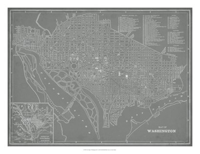 City Map of Washington, D.C. by Vision Studio art print