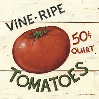 Vine Ripe Tomatoes by David Carter Brown art print