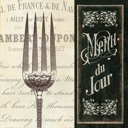 French Menu II by Pela Studio art print