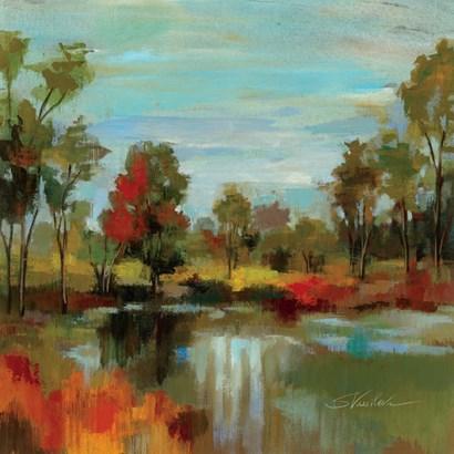 Hidden Pond Hues I by Silvia Vassileva art print