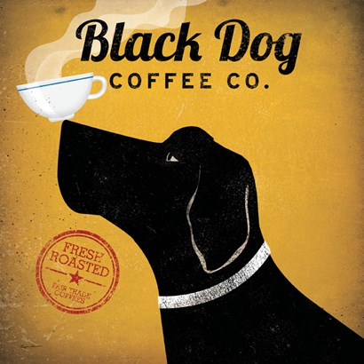 Black Dog Coffee Co. by Ryan Fowler art print