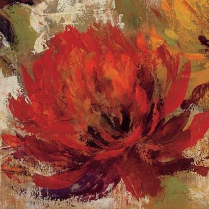 Fiery Dahlias II Crop by Silvia Vassileva art print