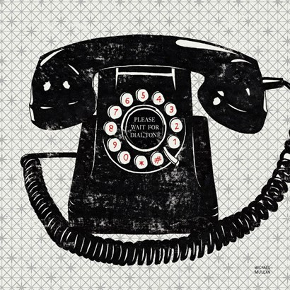 Vintage Analog Phone by Michael Mullan art print