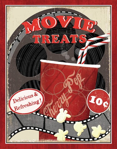 At the Movies II by Veronique Charron art print