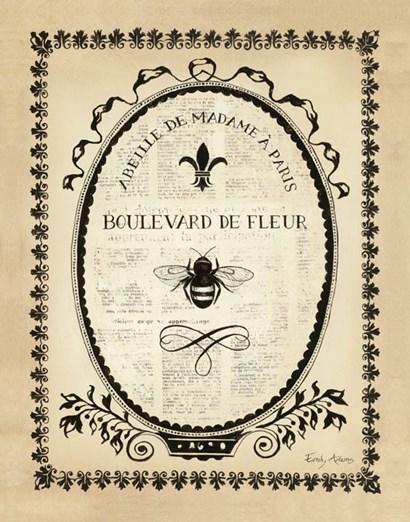 Paris Bees II by Emily Adams art print