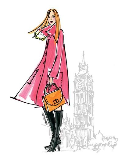 Colorful Fashion I - London by Anne Tavoletti art print