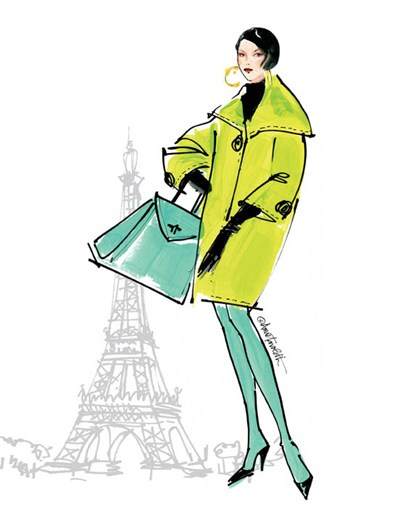 Colorful Fashion II - Paris by Anne Tavoletti art print