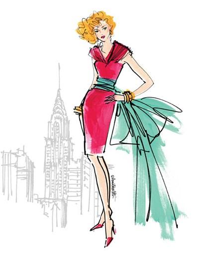 Colorful Fashion III - New York by Anne Tavoletti art print