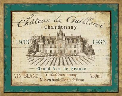 French Wine Label IV by Daphne Brissonnet art print