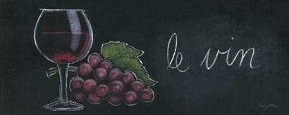 Chalkboard Menu IV - Vin by Emily Adams art print