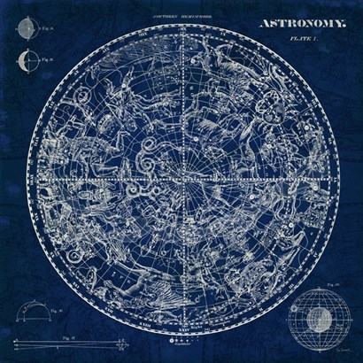 Celestial Blueprint by Sue Schlabach art print