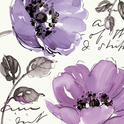 Floral Waltz Plum II by Pela Studio art print