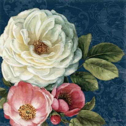 Floral Damask II on Indigo by Lisa Audit art print