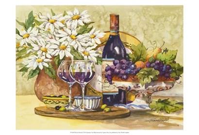 Wine & Daisies by Jerianne Van Dijk art print