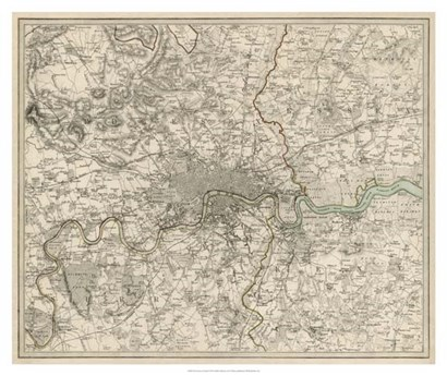The Environs of London by H Walters art print