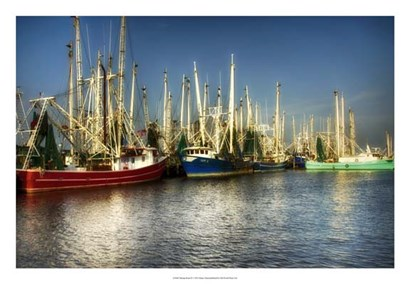 Shrimp Boats II by Danny Head art print