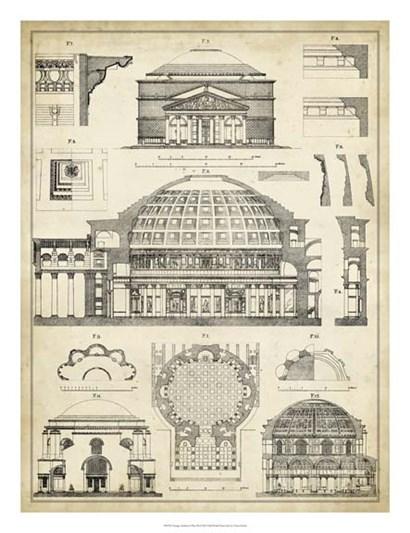 Vintage Architect's Plan III by Vision Studio art print