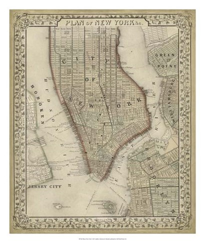 Plan of New York by Laura Mitchell art print