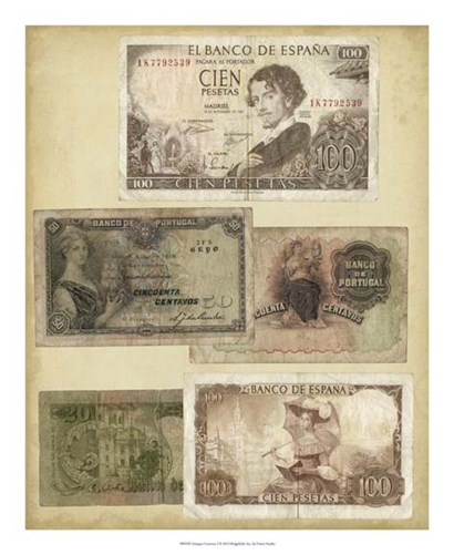 Antique Currency I by Vision Studio art print