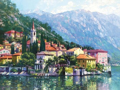 Reflections of Lake Como by Howard Behrens art print