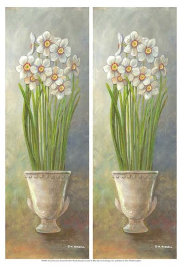 2-Up Narcissus Vertical by Wendy Russell art print