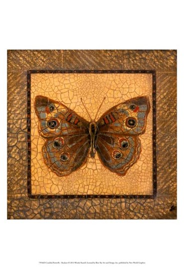 Crackled Butterfly - Buckeye by Wendy Russell art print