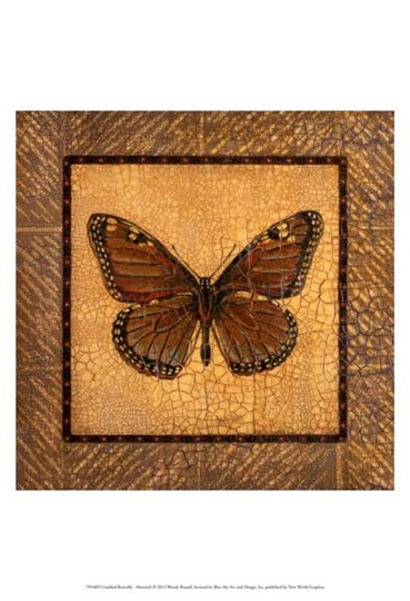 Crackled Butterfly - Monarch by Wendy Russell art print