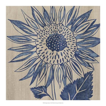 Indigo Sunflower by Chariklia Zarris art print