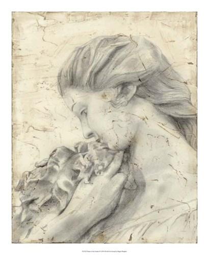 Statue in the Garden II by Megan Meagher art print