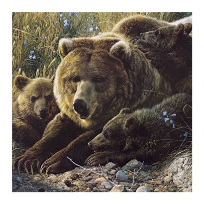 Close to Mom (detail) by Carl Brenders art print