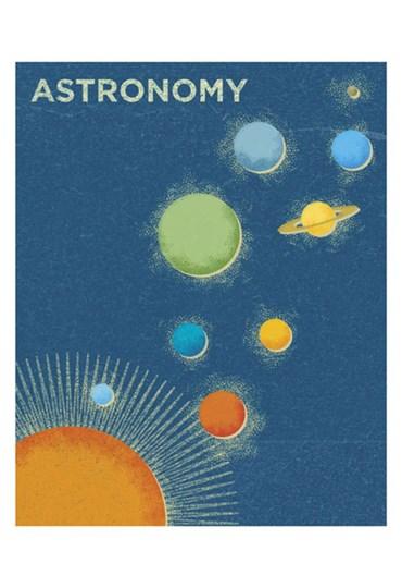 Astronomy by John W. Golden art print