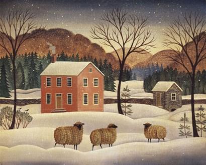 Winter Sheep II by Diane Ulmer Pedersen art print