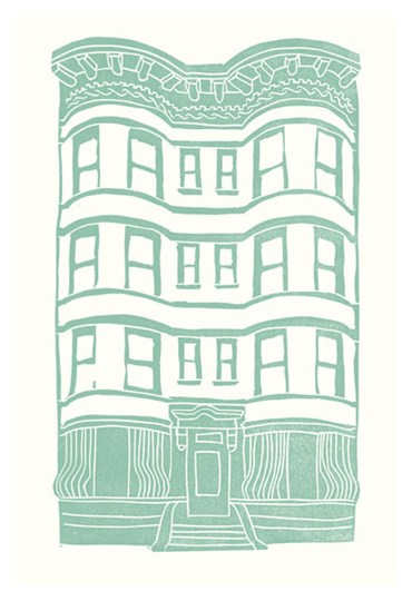 Williamsburg Building 4 (Brownstone) by Live from bklyn art print