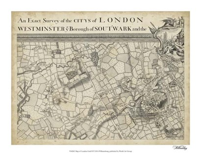 Map of London Grid II art print