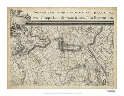 Map of London Grid III art print