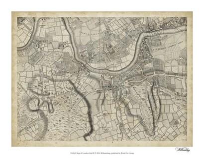 Map of London Grid X art print