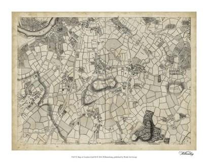 Map of London Grid XI art print