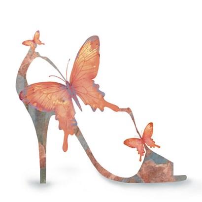 Butterfly Shoe Swirl by Jill Meyer art print